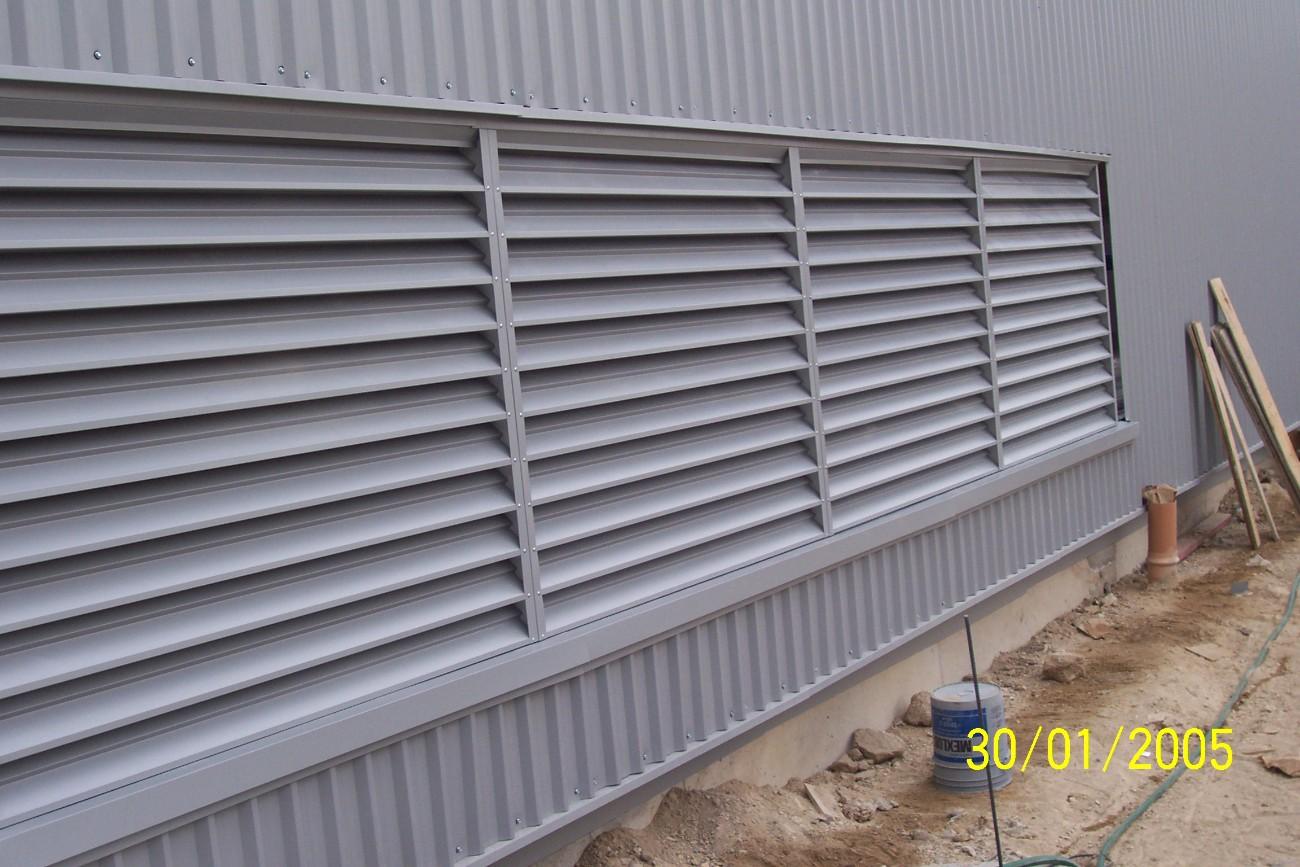 Mantenimiento e instalacion de ventilacion industrial - Laminas de persianas ...